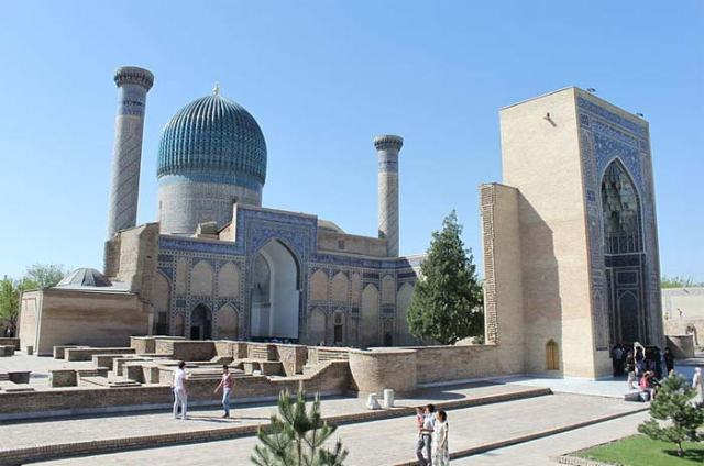 Mausoleum of Guri Amir in Samarkand, Uzbekistan
